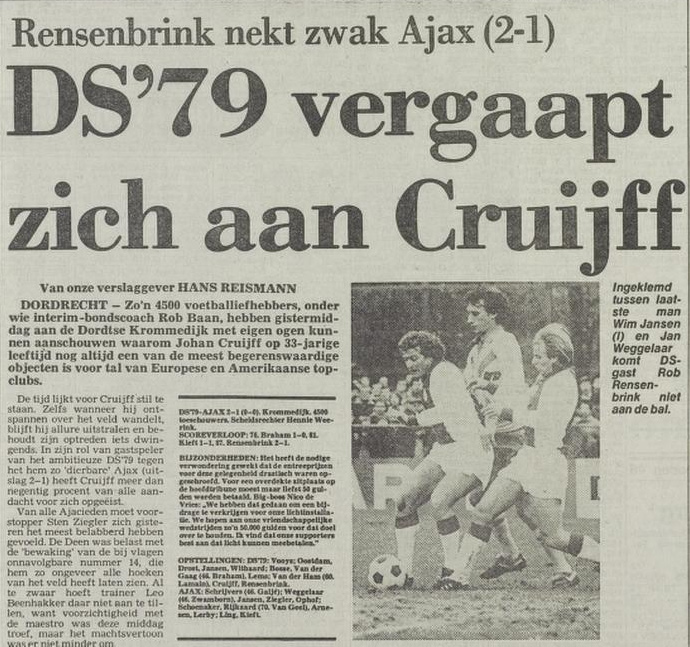 Johan Cruijff, voor even een Schapenkop