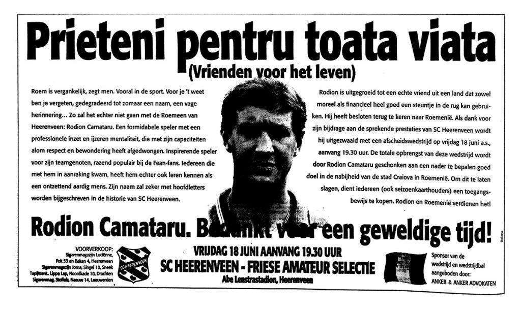 Afscheid Camataru Heerenveen