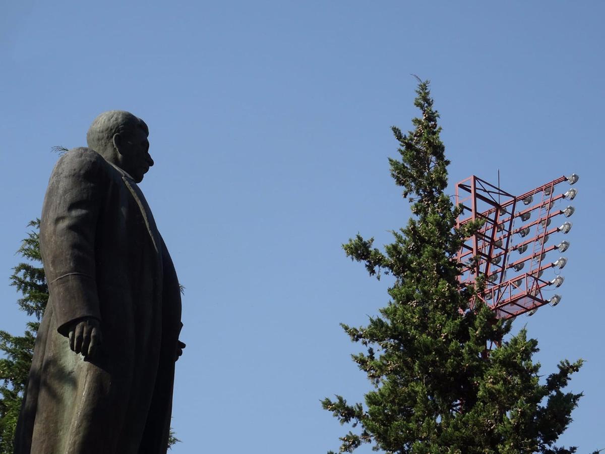 Standbeeld Stalin bij Dila Gori