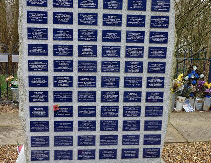 Leicester City Remembrance wall